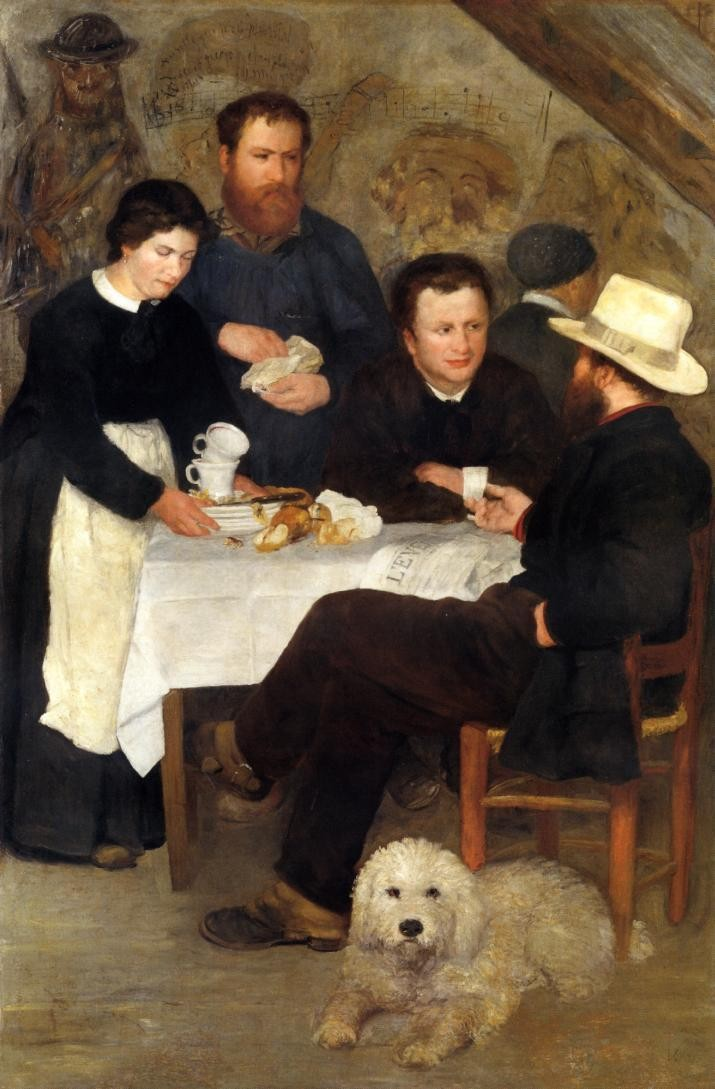 At the inn of mother Anthony, 1866, Pierre Auguste Renoir